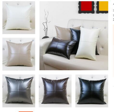 Green PU leather easy to decontamination washable sofa pillowcase cushion cove