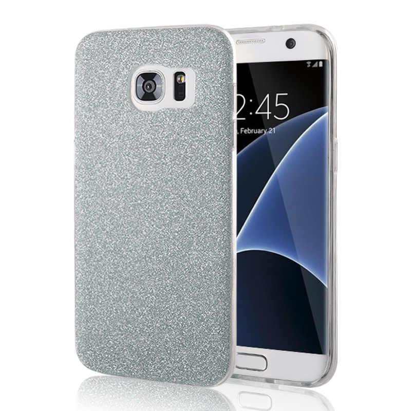 Nephy Phone Case For Samsung S6 S7 Edge S8 S9 Plus J3 J5 J7 2016 A3 A5 A7 2017 Grand Prime Cover Glitter Shine Soft TPU Silicone