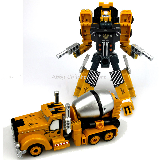 Alloy Engineering Transformation Robot Car Deformation Toy 2 in 1 Metal Alloy Construction Vehicle Truck Assembly Robot Kid Toys