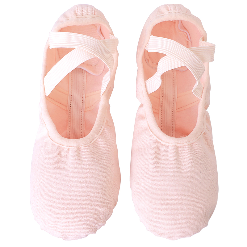 Elastic Canvas Ballet Shoes Soft Spit Sole Ballet Slippers Ballerina Dance Shoes For Kids Girls Women