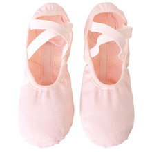 лучшая цена Elastic Canvas Ballet Shoes Soft Spit Sole Ballet Slippers Ballerina Dance Shoes For Kids Girls Women