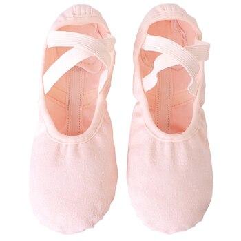 ballet flats shoes women dance sneakers ballerina shoes for girls kids gymnastics shoes elastic cloth footwear балетки Elastic Canvas Ballet Shoes Soft Spit Sole Ballet Slippers Ballerina Dance Shoes For Kids Girls Women