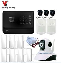 Yobang Security Touch screen LCD display GSM Alarm System,Wireles Home Alarm Security System Wifi Alarm System Wifi Camera