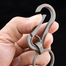 Titanium outdoor portable EDC tools, titanium alloy keychain key ring personalized waist hanging car pendant.