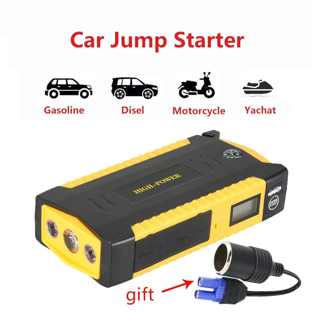 TOP Auto Starthilfe 600A Spitzen 16000 mah ladegerät für auto Batterie Pack beleuchtung notfall Start Gerät 12 v Ausgangs gerät