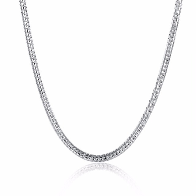 Male 4m snake bone necklace simple snake silver necklace pendant male 4m snake bone necklace simple snake silver necklace pendant circle 2024 inch flat aloadofball Image collections
