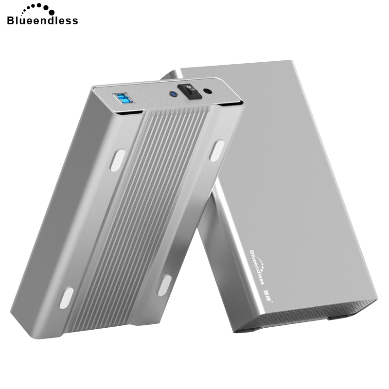 Blueendless 2018 New 3.5' Hdd Enclosure Case Aluminum Sata To USB Hard Disk Case USB 3.0 Hdd Caddy Box For Laptop/Destop Product