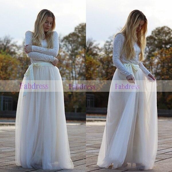Aliexpress.com : Buy Handmade Long Tulle Satin Zipper Waist Skirts ...