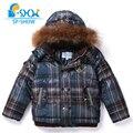 SP-SHOW Luxury Brand Children Winter Coat boys Roaccoon Fur Hat Jacket Boy Coat Kids clothing thick warm Fleece Down&Parkas 1193