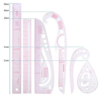 MIRUI Multifunctionele Kleding Sample Snijden Heerser Metrische Maatstaf Heersers Tekening Kleermaker Heerser Curve Maatstaf Naaien Gereedschap