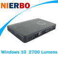 Nierbo windows 10 proyector portátil mini proyector de negocios batería recargable con wifi bluetooth 2g ram 32g rom 2700 lúmenes