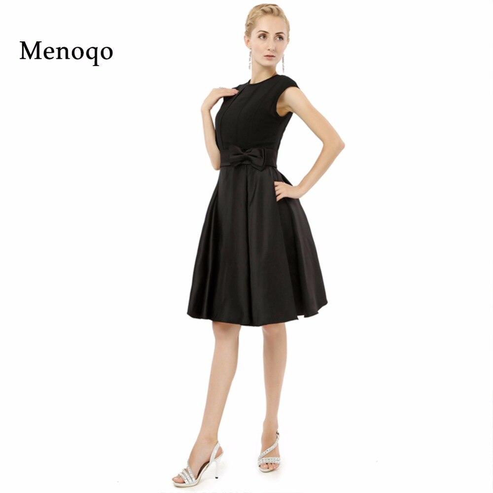 vestidos madre de la novia Black A line Knee length Short 2019 New Real Photo Elegant plus size mother of the bride dresses