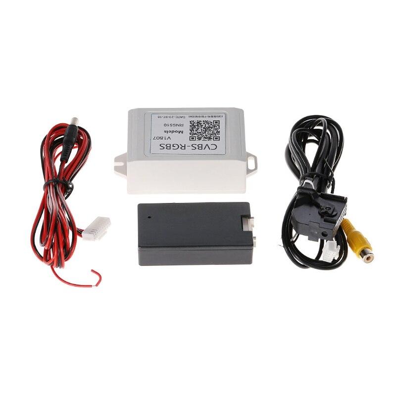 Chegam novas RGB Para AV Adaptador Conversor De Backup Câmera Retrovisor Do Carro Para VW Volkswagen RNS510 Transporte da gota