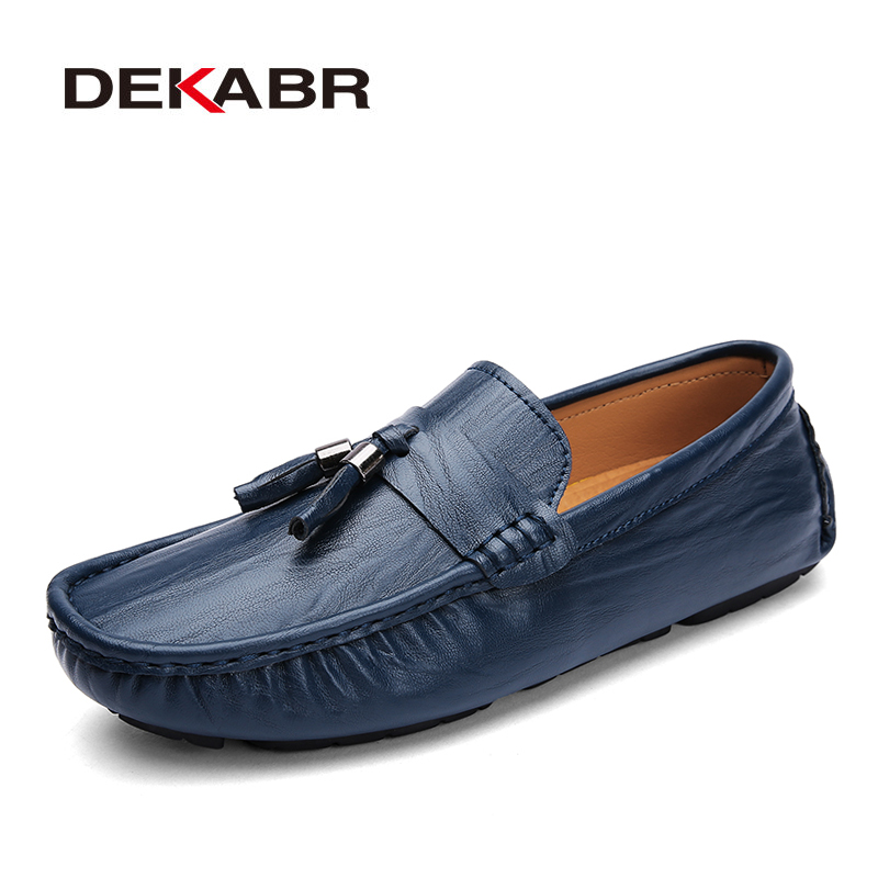 Nuove Quality Nero fatte Leather Uomo Soft Driving mano Fashion casual Dekabr Quality scarpe marrone Piatti Mocassini Pu a blu wnxqHCnO4X