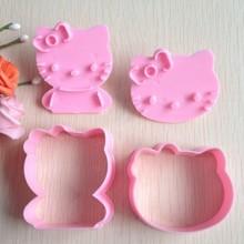Bakvormen Mould Hello Kitty Vorm Cakevorm Suiker Arts Ingesteld Fondant Cake Gereedschappen Cookie Cutters 2 Stks/set