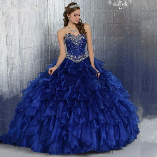 f0dd217b959 2016 New Latest Design High Quality Organza Princess Quinceanera Dresses  With Jacket Dress 15 Years Sweetheart
