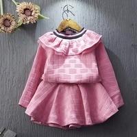 Children Clothing 2017 New Fashion Spring Kids Clothes Top Long Sleeve Hoodies Tutu Skirt 2pcs Toddler