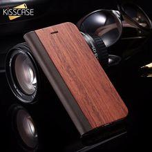 KISSCASE деревянный флип чехол для iPhone 8 7 6s Plus чехлы из натуральной бамбуковой кожи кошелек подставка чехол для iPhone 6 6s 7 XS Max X Чехол чехол на айфон 7 чехол на айфон 6 s чехол на айфон 8 чехол на айфон 5s
