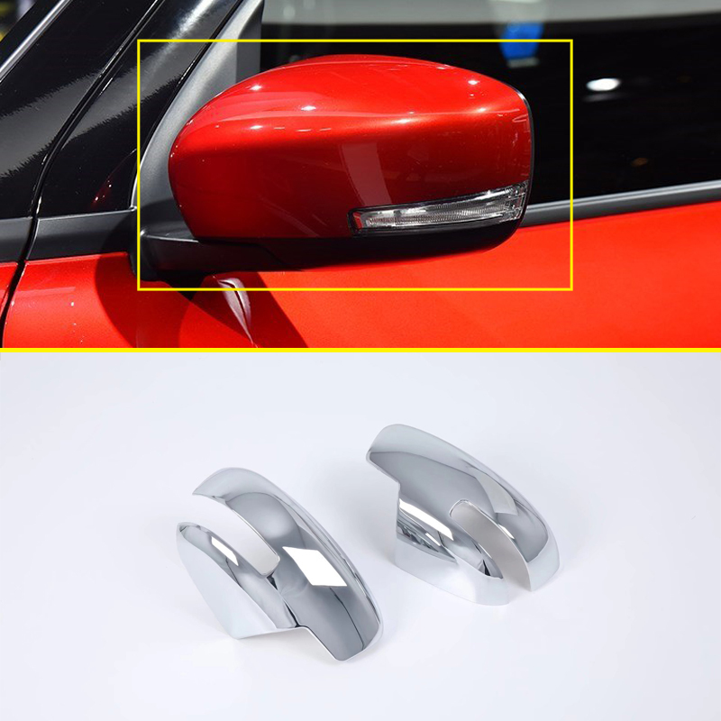 цена на Accessories Exterior Chrome Door Side Review Wing Mirror Frame Cover Trim 2pcs For Suzuki Swift 2018