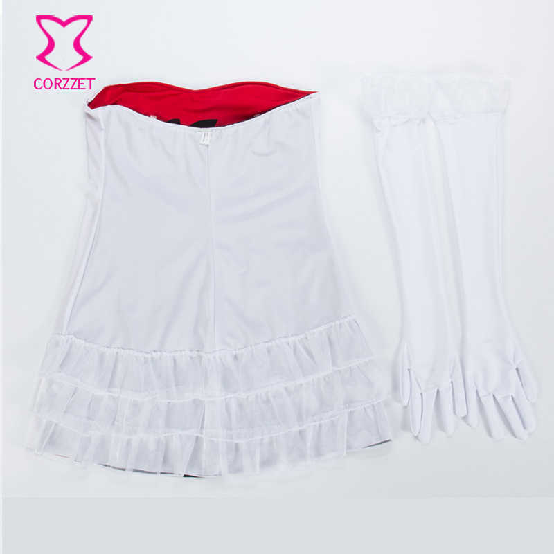 White/Red Reversible Sides Devil Angel Fancy Dress Carnival Halloween Costume Women Role Play Plus Size Sexy Costumes For Adults