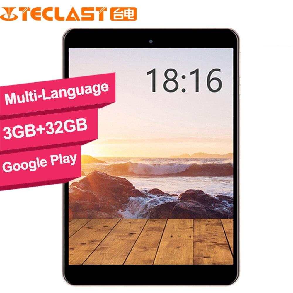 Teclast M89 tablette pc Hexa Core 3GB + 32GB MTK8176 2.1GHz 7.9 pouces GPS OTG Double caméras WiFi TF HDMI type-c