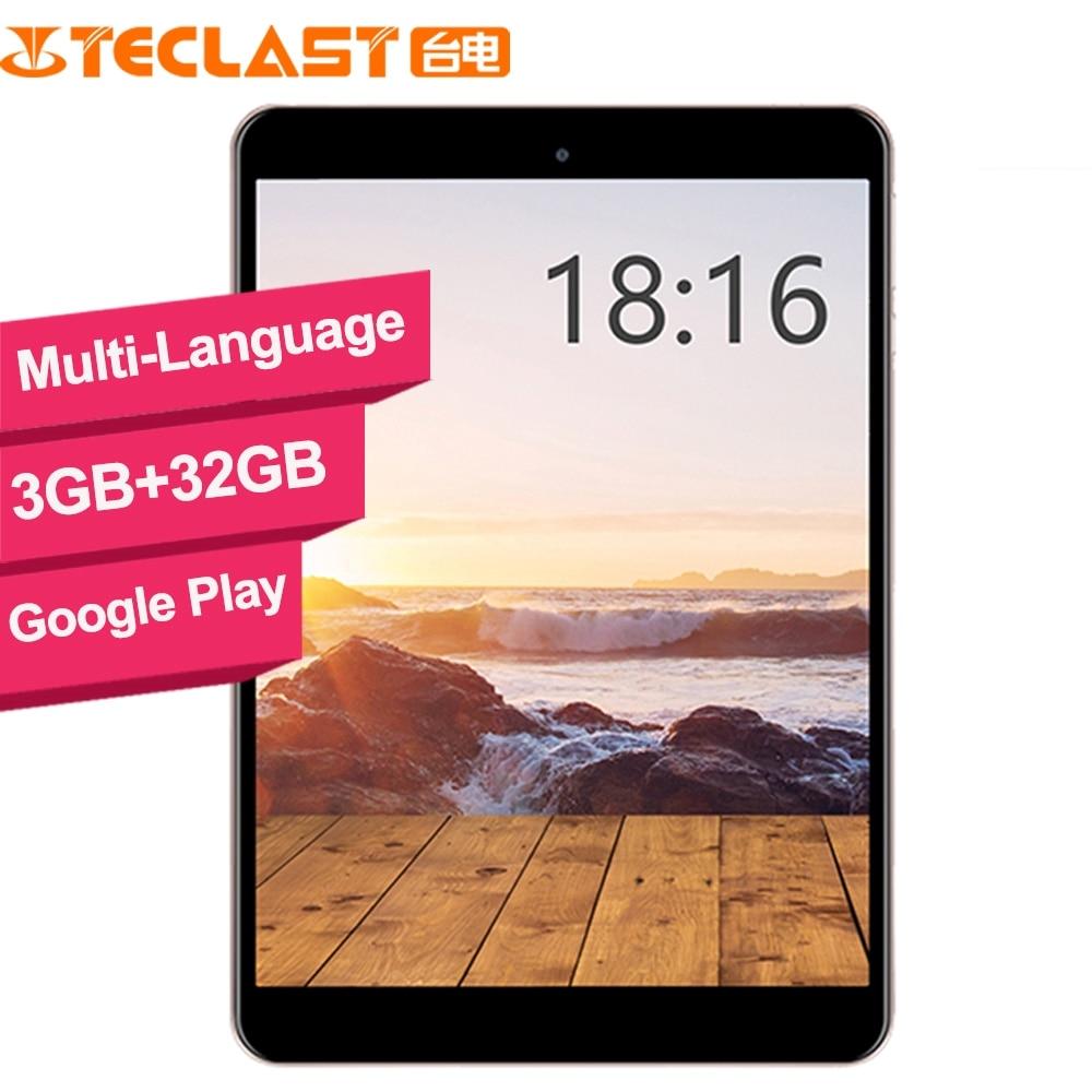Teclast M89 tablette pc Hexa Core 3 GB + 32 GB MTK8176 2.1 GHz 7.9 pouces GPS OTG Double caméras WiFi TF HDMI type-c