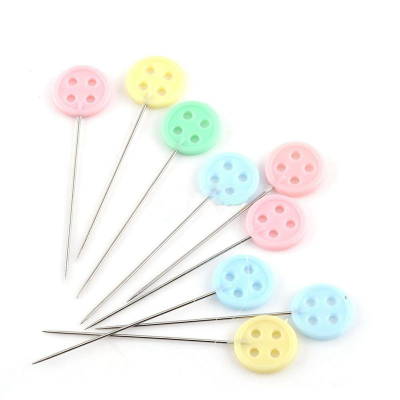 100pcs/bag Pins Mixed Colors Sewing Patchwork Pins Flower Head Pins Sewing Tool Needle Arts Sewing Accessories Button