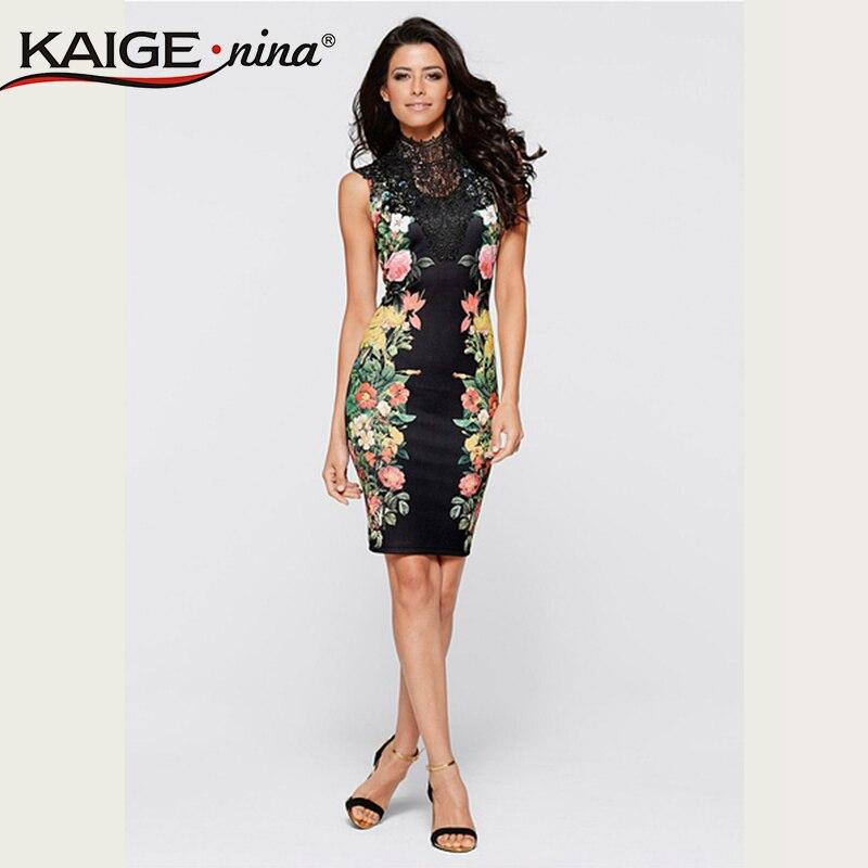 f934683225dc5 Kaigenina nueva moda caliente venta de las mujeres rayas patchwork vaina de  rodilla-longitud sin mangas 2239 vestido de verano
