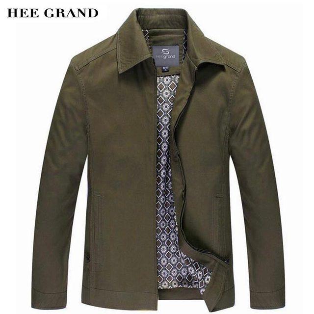 Hee Grand/повседневные куртки для Для мужчин Новое поступление 2017 года отложным воротником Пух широкий воротник-талия Демисезонный тонкий натуральный Цвет пальто MWJ2255