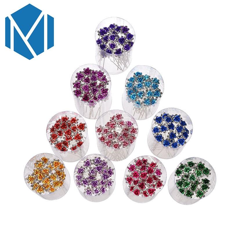 M MISM 1 Can = 20 PCS boda matrimonio Rhinestone aleación de flores - Accesorios para la ropa - foto 2