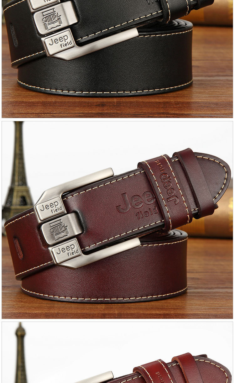 (10)Designer men's belts for men belt genuine leather High quality famous brand Pin Buckle Strap Luxury Male Belts Man Belt Jeans