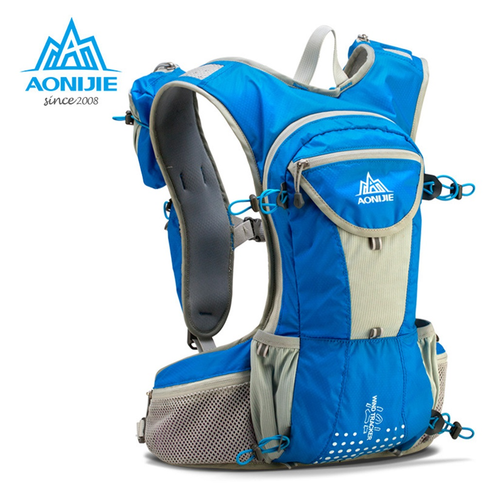 AONIJIE Running Bag 12L Large Marathon Trail Running Backpack Hydration Vest Pack For 2L Water Bladder Cycling Hiking Bag easyguard pke car alarm system remote engine start stop shock sensor push button start stop window rise up automatically