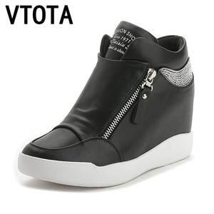 570fa4ebdfa VTOTA Wedges Crystal Platform Casual High Heels Shoes Women