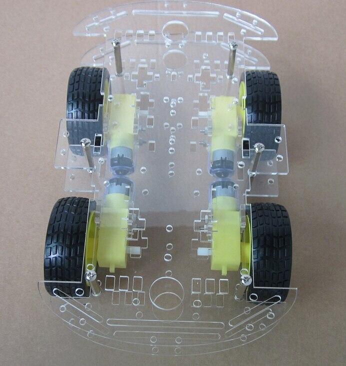 Kostenloser versand 4WD Smart Roboter Auto Chassis Kits für arduino mit Drehzahlgeber Neue