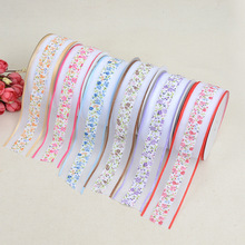 New Creative DIY Bow Accessories Headdress Clothing Ribbon Cake Box Packaging Printed Grosgrain Ribbons