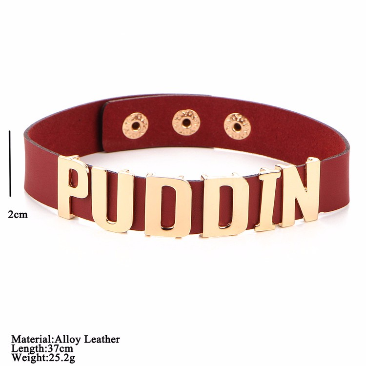 Suicide Squad Harley Quinn PUDDIN Choker