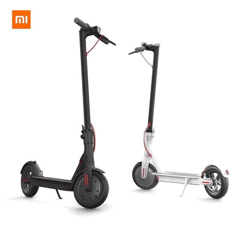 Original Xiaomi Mijia M365 inteligente Scooter Eléctrico plegable patinete para adultos ligero Longboard 30 km Scooter una sola balancín