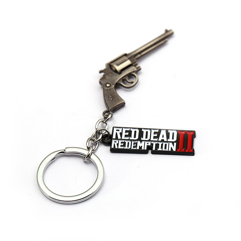 Novelty & Special Use New Game Red Dead Redemption 2 Keychain Metal Key Ring Chain 3d Gun For Men Car Women Bag Jewelry Souvenir Chaveiro Llaveros