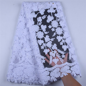 Image 1 - Newest Applique Milk Silk African Lace Fabric High Quality French Lace Fabric Nigerian Tulle Lace Fabric For Wedding Dress A1598