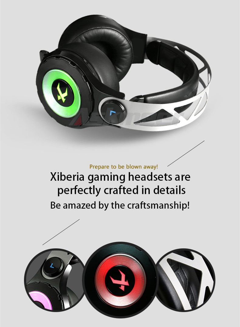 XIBERIA T18 Stereo Gaming Headphones with Microphone 7.1 Surround Sound Deep Bass Gamer Headset for Computer Best casque (13)