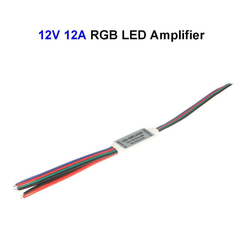 300pcs 12v 12a rgb led signal amplifier controller for smd
