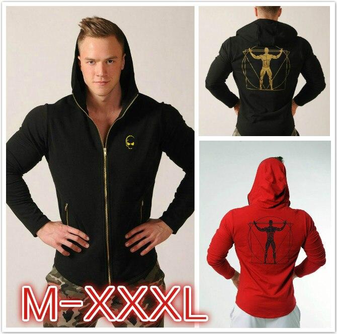 New Fashion Men Hoodies Gyms Fitness Bodybuilding Sweatshirt Sportswear Male Workout Hooded Jacket Zipper Clothing