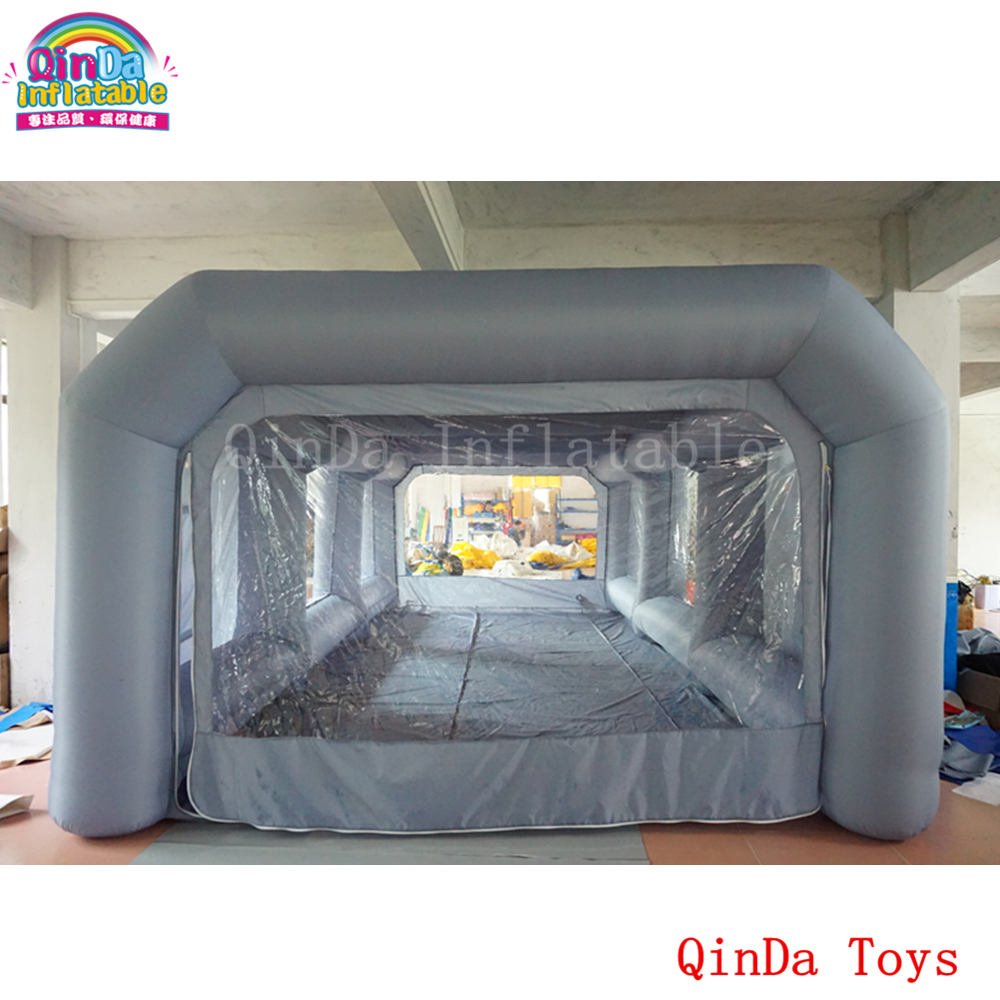 7*4*2.5m inflatable portable car spray paint booth design with filter, mobile station car painting room for sale funny summer inflatable water games inflatable bounce water slide with stairs and blowers