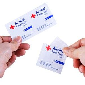Image 3 - 20 50 100pcs Desinfectie Alcohol Prep Pad Verzegelde Steriele Medicinale Pad Voor Home Reizen Outdoor Kamp Ehbo Kits Accessoires