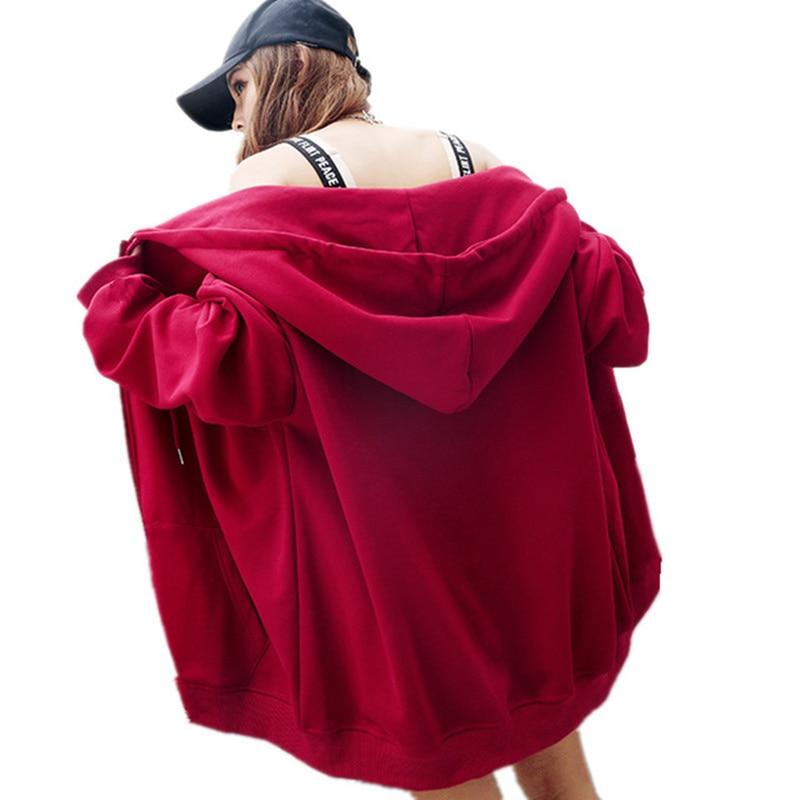 Harajuku Chic velours Vintage Zip Up sweat à capuche lâche épais sweat hauts décontracté BF automne/hiver sweat TT3284