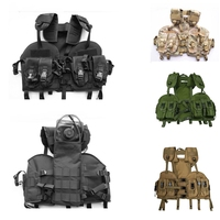 Outdoor Navy Seal Modular Tactical Vest Carrier MOLLE Adjustable Chest Rig Lightweight Vest with