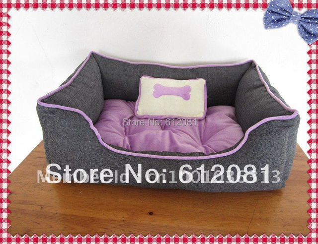 Free shipping Hot sell pet products pet dog bed sof tvelour  fabric,pink&purple,1pc for sell