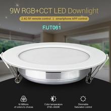 Miboxer 9W RGB+CCT LED Downlight FUT061 Dimmable Ceiling Spotlight AC110V 220V B8/FUT089/FUT092 2.4G Remote MiBOXER