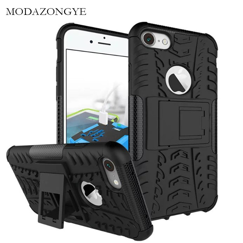 sFor iPhone 7 Case iPhone 7 Case Cover Armor Silicone Case For iPhone 7 Plus TPU + PC Back Cover Phone Stand Luxury Brand