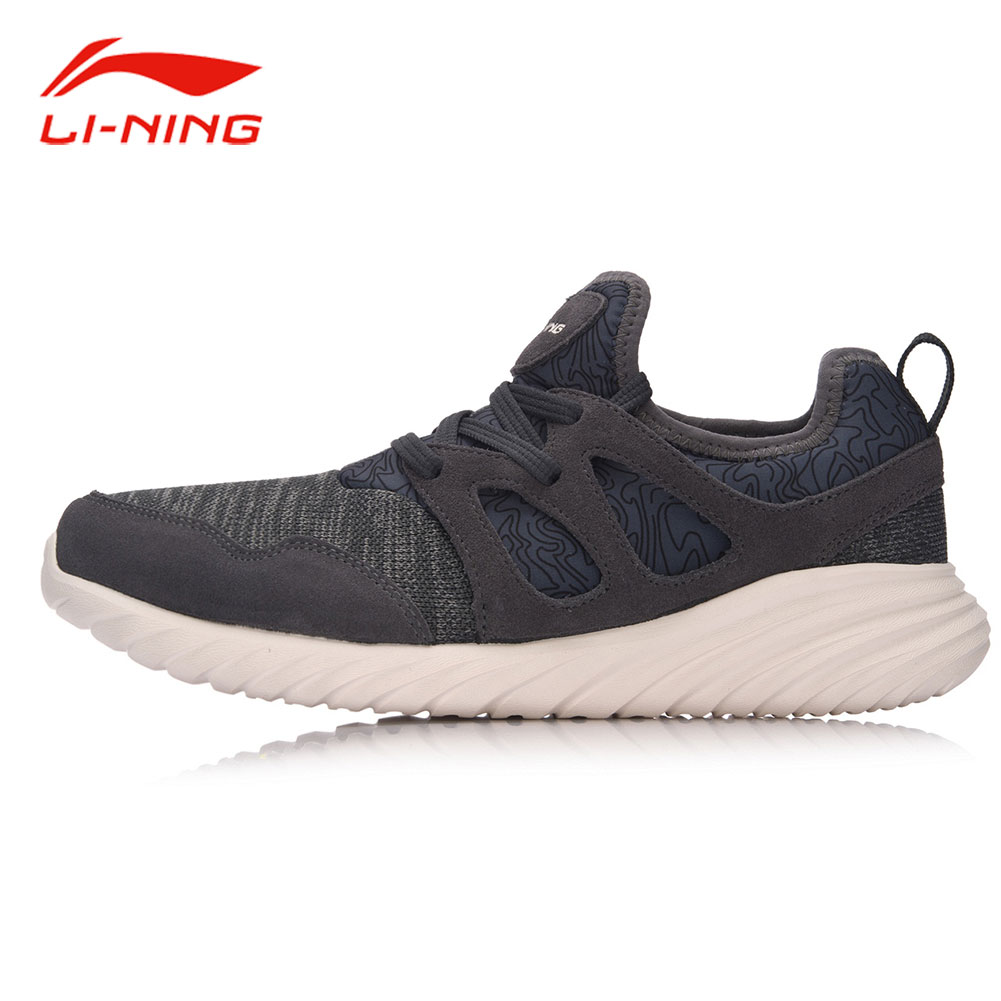 Li-Ning Men Classic Light Walking Shoes Warm Suede Leather Breathable Comfort Sneakers LINING Fitness Jog Sports Shoes AGCM057 li ning brand men walking shoes lining heather sports life breathable sneakers light comfort sports lining shoes agcm041
